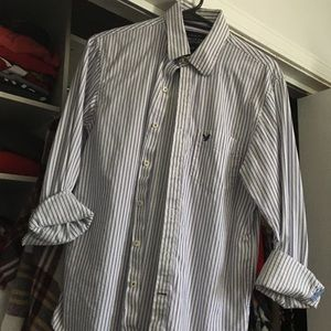 Striped AE Button Up